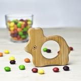 Organic Wood Teether Bunny