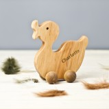 Pull Along Personalised Duck