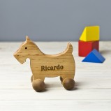 Personalised Scottish Terrier Pull Along Toy