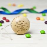 Personalised Birthday Wooden Yoyo Toy