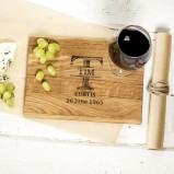 Traditional Monogrammed Oak Chopping Board