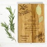 Personalised Family Oak Chopping Board