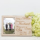 Personalised Photo Frame From Groom To Parents