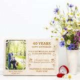 40 Years Wedding Anniversary Personalised Photo Frame
