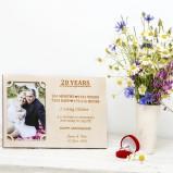 20 Years wedding anniversary Personalised Photo Frame