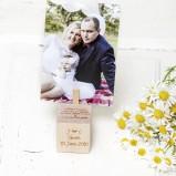Wooden Anniversary Personalised Photo Block