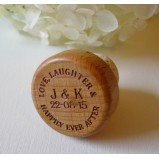 Personalised Wine Bottle Stopper Love Laughter...