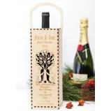 Angels tree Personalised Christmas Wine Box