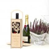 Love Birds  Personalised Wine Gift Box