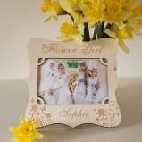 Personalised Flower Girl Photo Frame