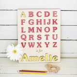 My first alphabet Personalised Puzzle Yellow & Red