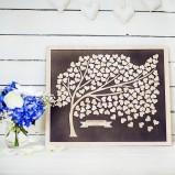 Tree Personalised Alternative Wedding Guest Book