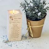 Personalised Wedding Tealight Candle Holder