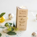 Wedding Anniversary Personalised Tealight Candle Holder