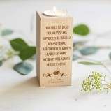 Personalised Wedding Candle For Parents
