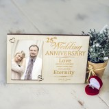Personalised Wedding Anniversary Photo Frame