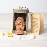 Thoughtful Angel in a Wooden Shell