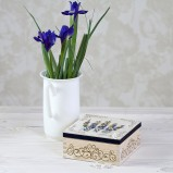 Gladioli Personalised Tea/Jewellery Box