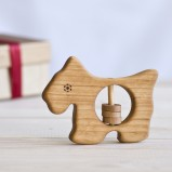 Scottish Terrier Organic Baby Rattle