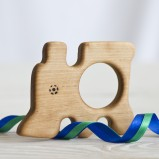 Wooden Train Shape Organic Teether
