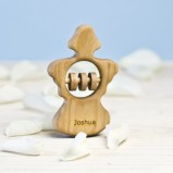Personalised Angel Organic Rattle