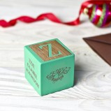 Baby's First Christmas Green Keepsake Block
