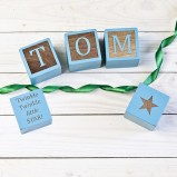 Personalised Blue Baby Keespsake Blocks
