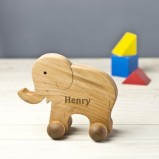 Personalised  Baby Elephant On Wheels