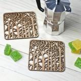 Enchanted Forest Coaster Set