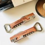 Personalized Wood Wine Bottle Opener, Corkscrew