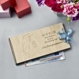 Christening Personalised Money Gift Envelope Stork