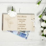 Personalised Money Gift Envelope Roses