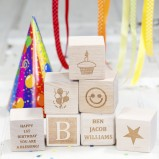 Personalised My First Birthday Wooden Blocks