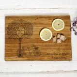 Tree of Love Personalised Oak Chopping Serving Board