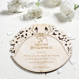 Personalised Bridesmaid's Thank You Coasters