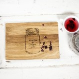 Manson Jar Personalised Oak Chopping Serving Board