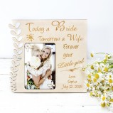 Personalised photo frame bride to parents gift
