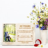 40 Years Wedding Anniversary Personalised Photo Frame