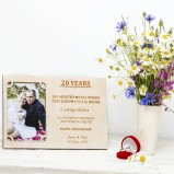 20 Years wedding anniversary Personalised Photo Frame