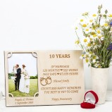 10 Years wedding anniversary Personalised Photo Frame