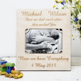 New Baby Personalised Photo Frames