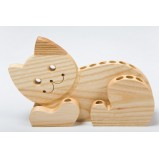 Handcrafted Cat Pencil Holder