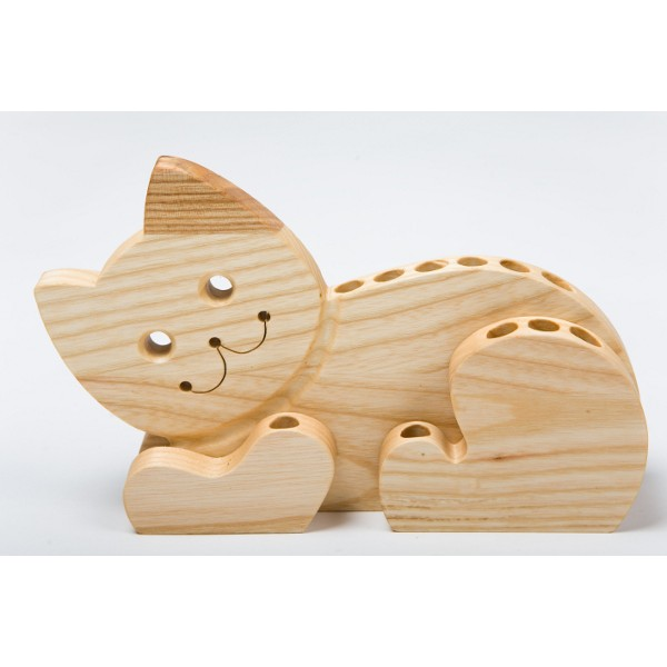 Natural Gift Store Cat Pencil Holder