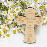 Personalised Cross With Dandelions
