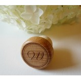 Personalised Wine Bottle Stopper with Monogrammed Letter