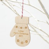Mitt Personalised Christmas Tree Decoration