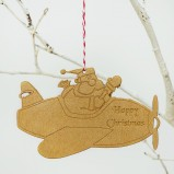 Santas Plane Personalised Christmas Ornament