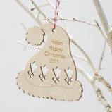 Christmas Hat Personalised Ornament