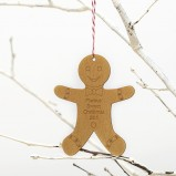 Gingerbread Personalised Wooden Christmas Ornament