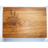 Flowers in Vase Personalised  Chopping Serving Board